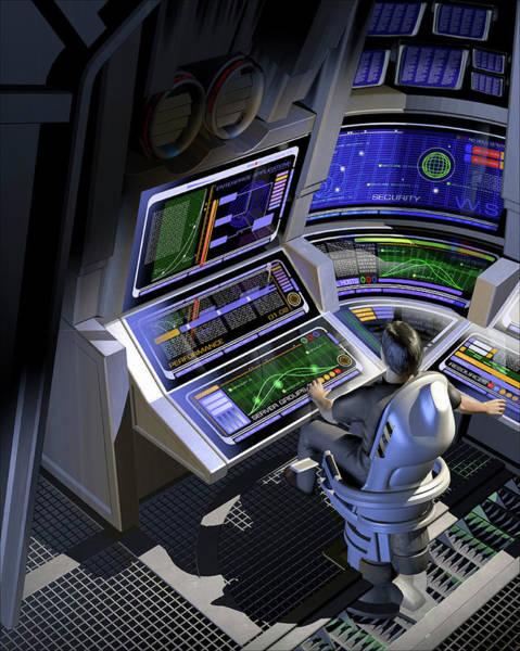 Visual Language Photograph - Man Working At Control Panels by Ikon Ikon Images