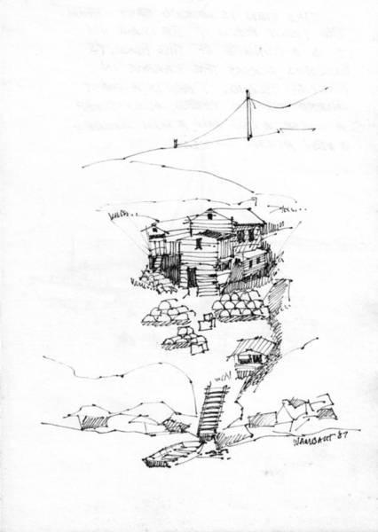 Drawing - Manana Hermitage by Richard Wambach