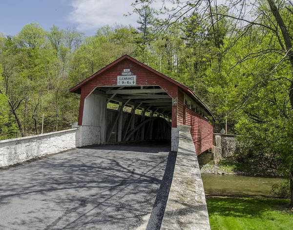 Wall Art - Photograph - Manasses Guth Covered Bridge by Dave Sandt