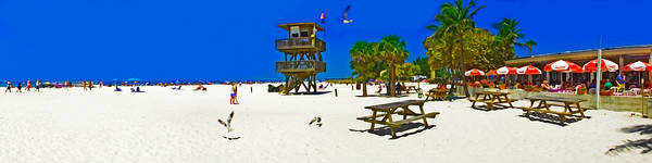 Photograph - Manatee Beach Cafe by Rolf Bertram