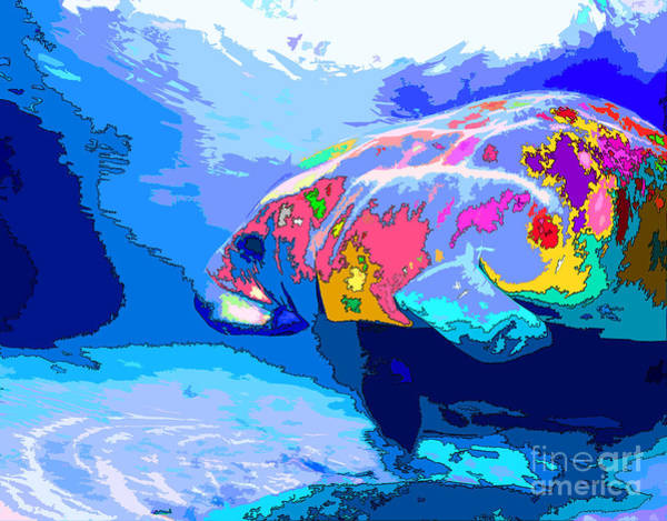 West Indian Manatee Photograph - Manatee Love by Keri West