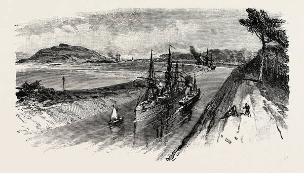 Manchester Drawing - Manchester Ship Canal by English School