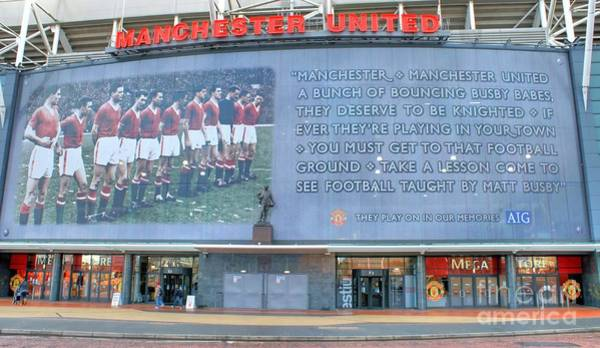 Photograph - Manchester United Busby Babes  by David Birchall