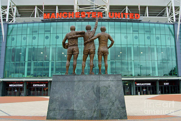 Greater Manchester Wall Art - Photograph - Manchester United Trio by John Rogers