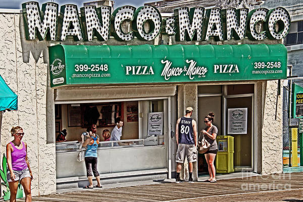 Atlantic Ocean Photograph - Manco And Manco Pizza by Tom Gari Gallery-Three-Photography