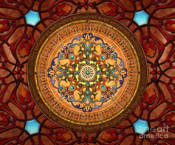 Traditional Home Digital Art - Mandala Arabia Sp by Peter Awax