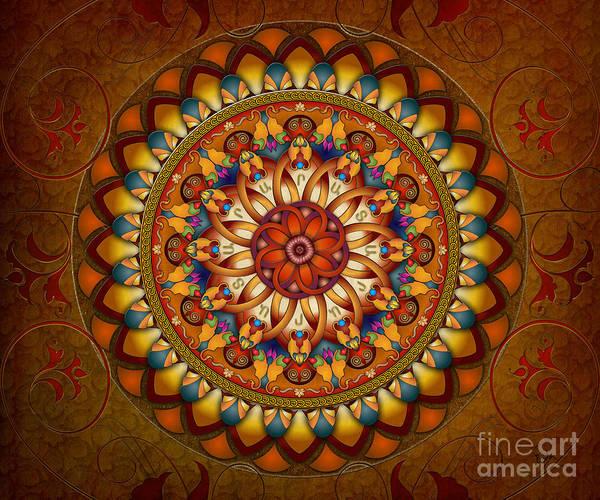 Wall Art - Digital Art - Mandala Ararat V1 Sp by Peter Awax