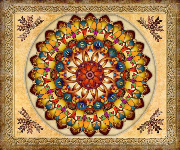 Wall Art - Digital Art - Mandala Ararat V2 Sp by Peter Awax