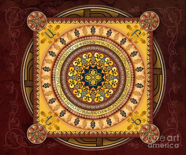 Wall Art - Digital Art - Mandala Armenia 'iypenkimta' Sp by Peter Awax