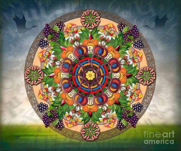 Wall Art - Digital Art - Mandala Armenian Grapes - Sp by Peter Awax
