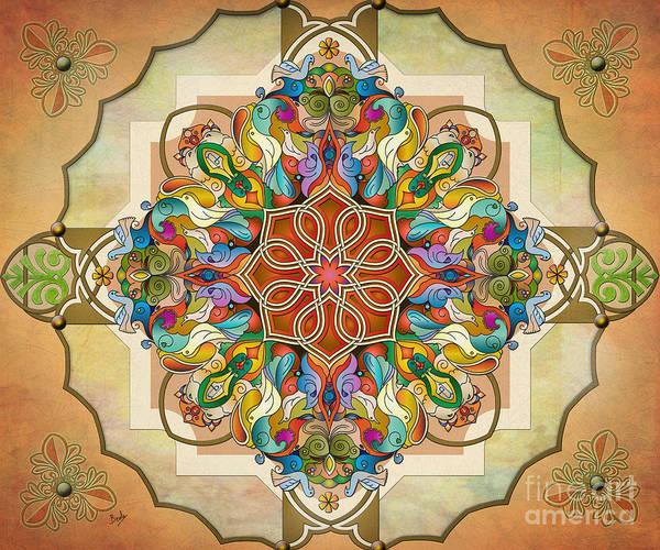 Wall Art - Digital Art - Mandala Birds Sp by Peter Awax