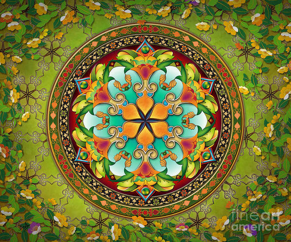 Wall Art - Painting - Mandala Evergreen Sp by Peter Awax