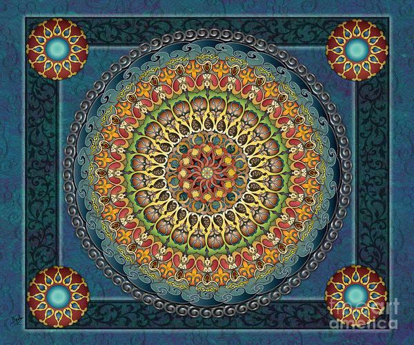 Wall Art - Digital Art - Mandala Fantasia Sp by Peter Awax