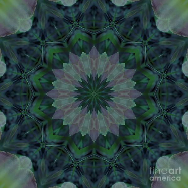 Digital Art - Mandala - Hagi Green Serene by Kathi Shotwell