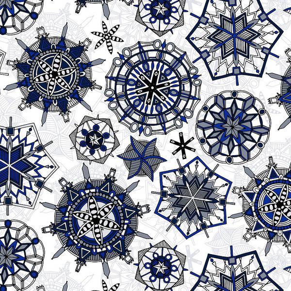 Wall Art - Painting - Mandala Snowflakes by MGL Meiklejohn Graphics Licensing