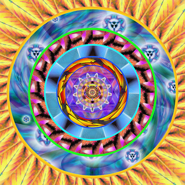 Homeopathy Drawing - Mandala Wormhole 101 by Derek Gedney