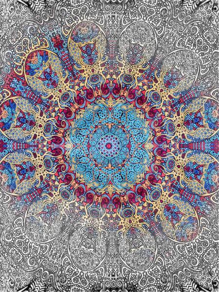 Asheville Mixed Media - Mandalan Tapestry by John Haldane