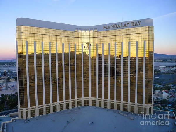 Neon Signage Photograph - Mandalay Bay Resort And Casino by Edward Fielding