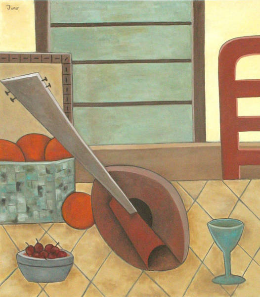 Painting - Mandolin With Cherries by Trish Toro