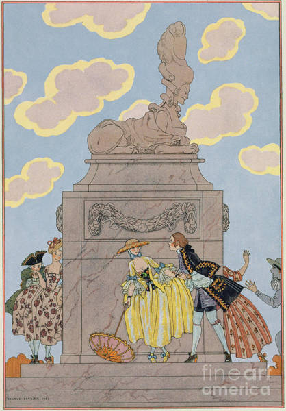 Fete Wall Art - Painting - Mandoline by Georges Barbier