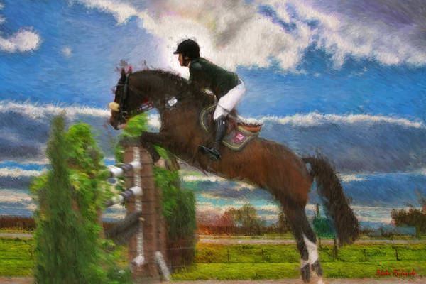 Photograph - Mandy Porter On Horse Con Capilot by Blake Richards