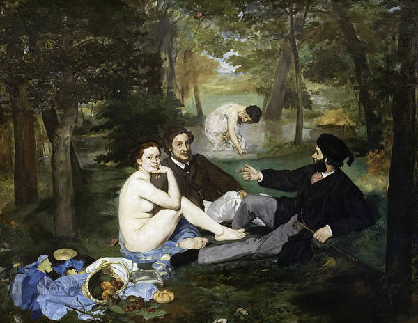 Wall Art - Painting - Manet Luncheon, 1863 by Granger