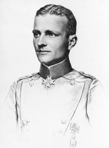 Wall Art - Drawing - Manfred Von Richthofen (1892-1918) by Mary Evans Picture Library