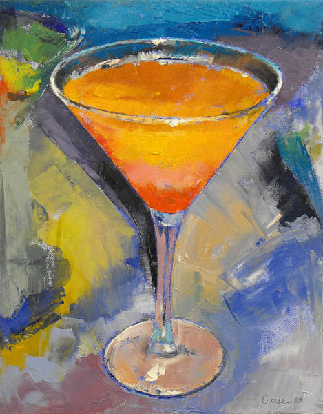 Martini Glasses Painting - Mango Martini by Michael Creese