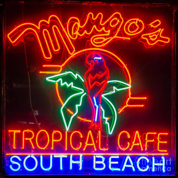 Mango Photograph - Mango's South Beach Miami - Square by Ian Monk