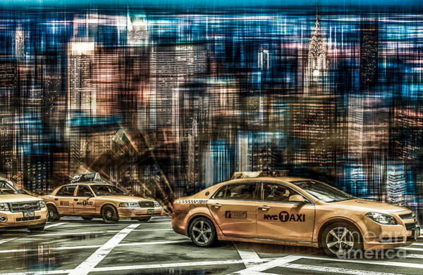 Photograph - Manhattan - Yellow Cabs - Future by Hannes Cmarits