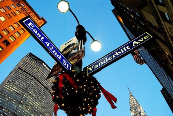 Wall Art - Photograph - Manhattan 42nd Street Ny At Christmas by Ron Bartels
