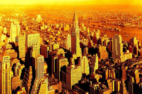 Manhattan And Chrysler Building Art Print