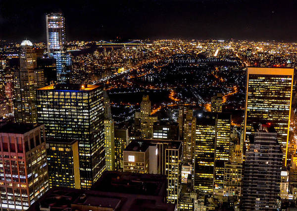 Photograph - Manhattan At Night 10672 by Guy Whiteley