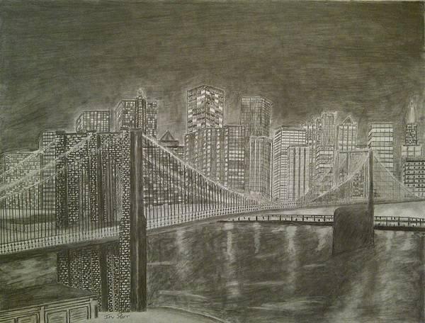 New York City Skyline Drawings | Fine Art America