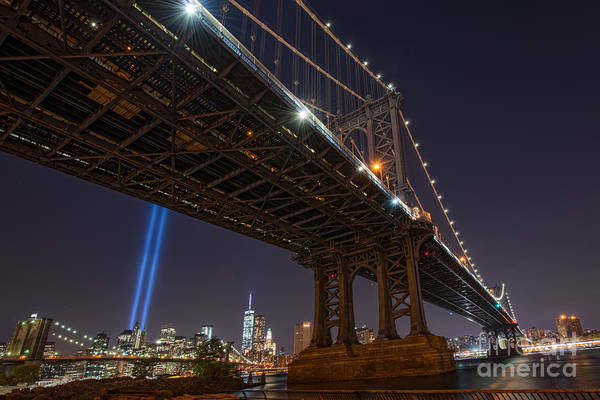 Liberty Bridge Photograph - Manhattan Bridge 911 by Michael Ver Sprill