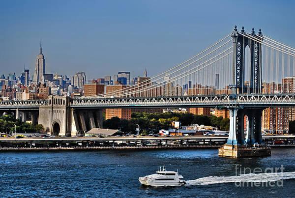 Photograph - Manhattan Bridge And Water Taxi by Carlos Alkmin
