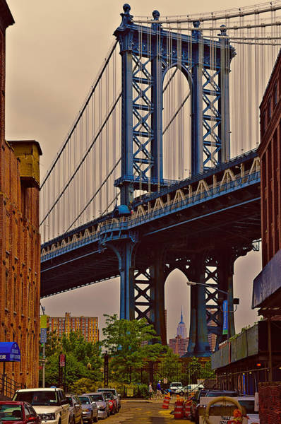 Photograph - Manhattan Bridge  Brooklyn  Nyc by Louis Dallara
