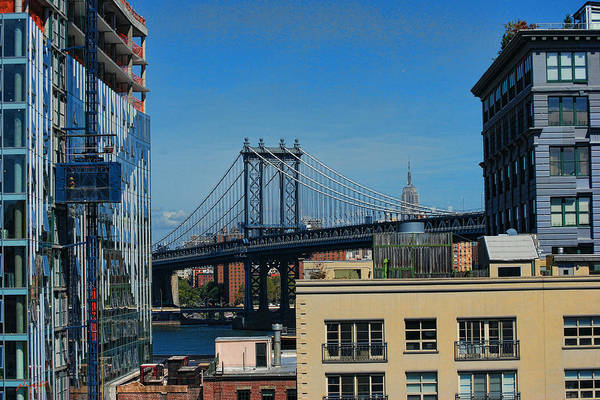 Photograph - Manhattan Bridge From Brooklyn by Paulette B Wright