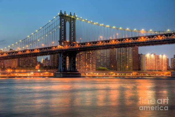 Photograph - Manhattan Bridge I by Clarence Holmes