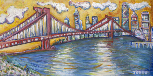 Wall Art - Painting - Manhattan Bridge by Jason Gluskin