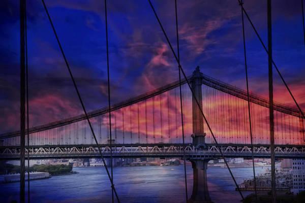 Photograph - Manhattan Bridge New York City by Evie Carrier