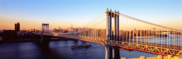 Across Photograph - Manhattan Bridge, Nyc, New York City by Panoramic Images