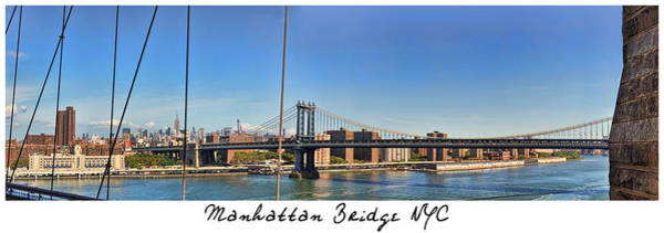 Photograph - Manhattan Bridge Nyc by Paulette B Wright