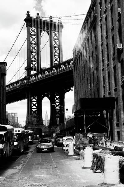 Blue Hour Photograph - Manhattan Bridge,nyc by Lisa-blue