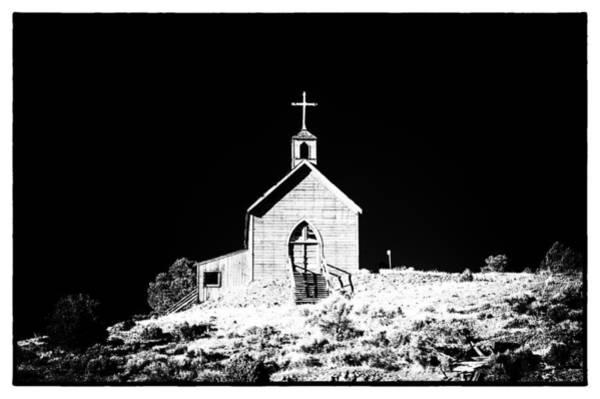 Photograph - Manhattan Church High Contrast by Cat Connor