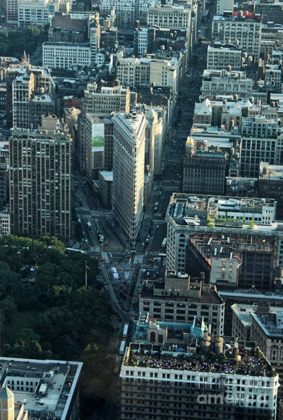 Photograph - Manhattan Cityscape - Flat Iron by Gregory Dyer