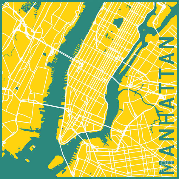 Wall Art - Digital Art - Manhattan by Delphimages Photo Creations