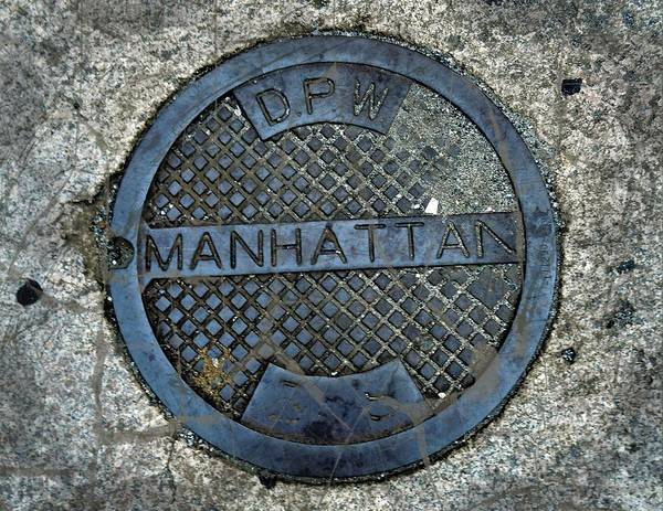 Photograph - Manhattan Man Hole Cover by Joan Reese
