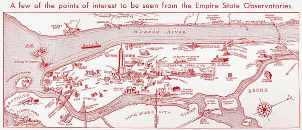 Photograph - Manhattan: Map, Late 1930s by Granger