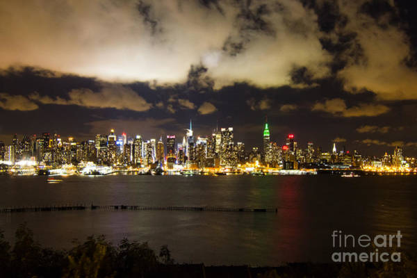 Wall Art - Photograph - Clouds Over Midtown Manhattan At Night by Ellie Teramoto